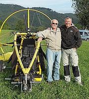 Ernst mit 84 Jahren unser ältester XCitor-Passagier